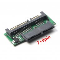 Adapter Micro SATA Female 7+9pin to SATA Male 7+15pin