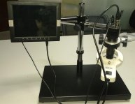 Digital Microscope 200X with CCD and LCD Monitor