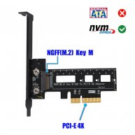 Adapter M.2 NGFF NVME SSD to PCI-E x4 Host with Heatsink