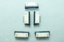 5pcs FFC/FPC Connector 6pin Pitch 1.0mm Bottom Contact