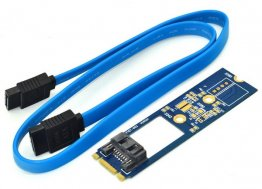 Adapter M.2 NGFF to SATA 7pin Data Horizontal with Cable