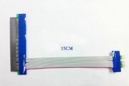 PCI-E 1X->16X Riser Card Flexible Extension Ribbon Cable