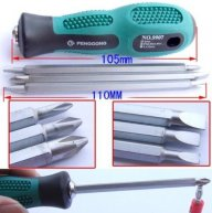 3pcs Slotted Philips 2-Way Screwdriver Reversible