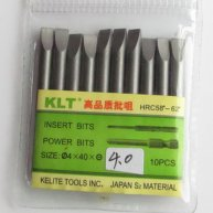 10pcs Slotted Screwdriver Bit Φ4.0mm