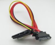 Male to Female 7+15 Pin Serixal ATA SATA Data Cable