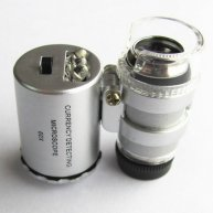 Mini 60X LED Lighted Magnifier Microscope Pocket Microscope