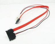 Micro SATA - SATA Cable with LP4 Power