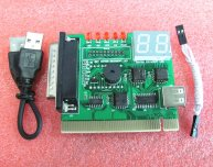 Laptop / Desktop 2 Bits PCI & LPT Diagnostic Card