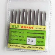 10pcs Slotted Screwdriver Bit Φ2.0mm