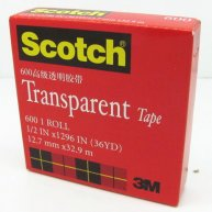 3M Scotch Transparent Tape 12.7mm x 32.9M