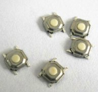100pcs Tactile Push Button SMD Switches 4pin 5x5x1.5mm